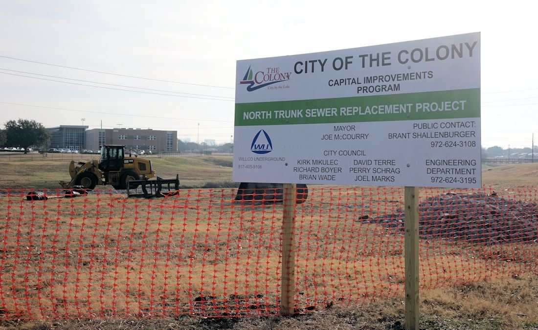 North Trunk Sewer project sign